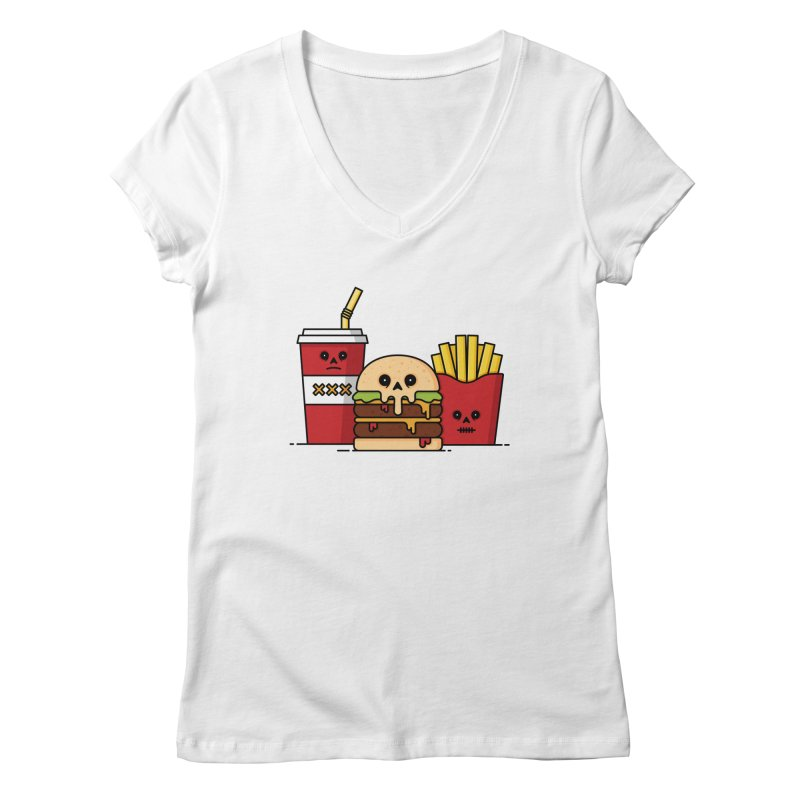 Unhappy Meal Women's Regular V-Neck by Tony Bamber's Shop