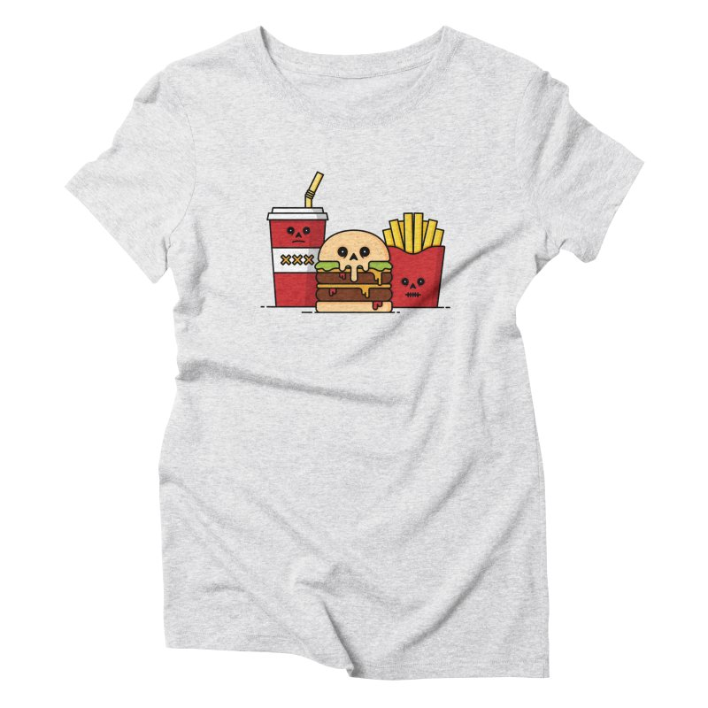 Unhappy Meal Women's Triblend T-Shirt by Tony Bamber's Shop