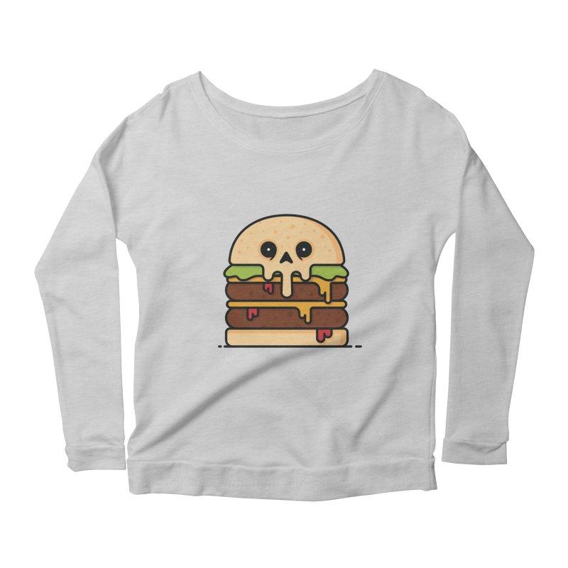 Burger Women's Scoop Neck Longsleeve T-Shirt by Tony Bamber's Shop