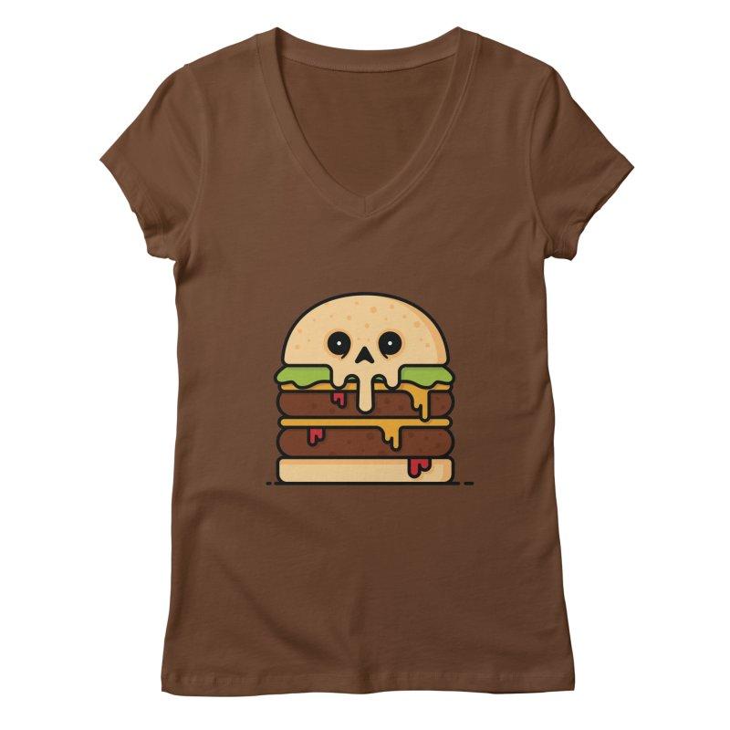 Burger Women's Regular V-Neck by Tony Bamber's Shop