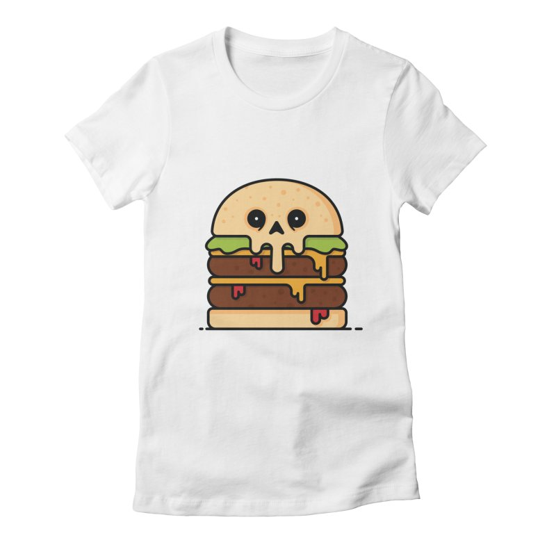 Burger Women's Fitted T-Shirt by Tony Bamber's Shop
