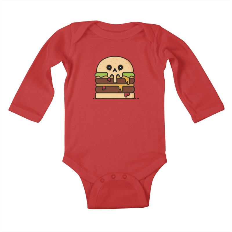 Burger Kids Baby Longsleeve Bodysuit by Tony Bamber's Shop
