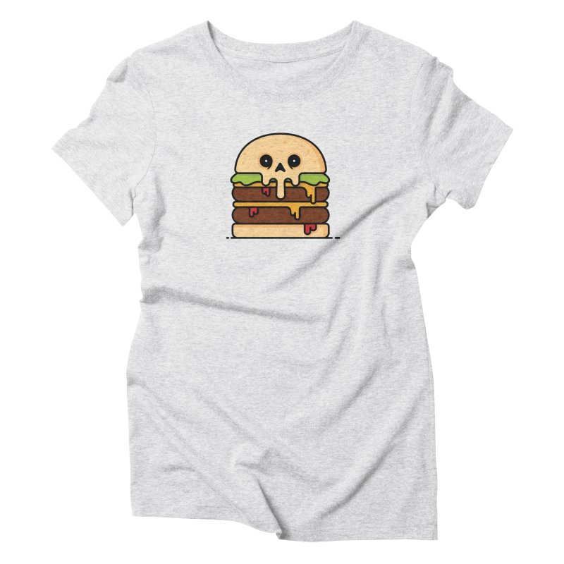 Burger Women's Triblend T-Shirt by Tony Bamber's Shop