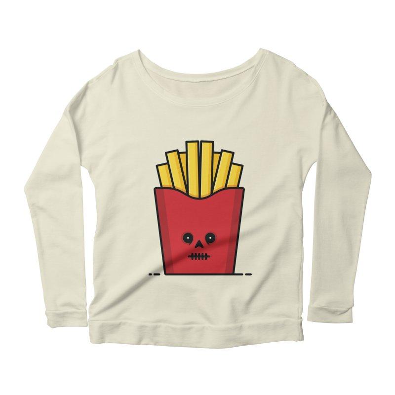 Fries Women's Scoop Neck Longsleeve T-Shirt by Tony Bamber's Shop