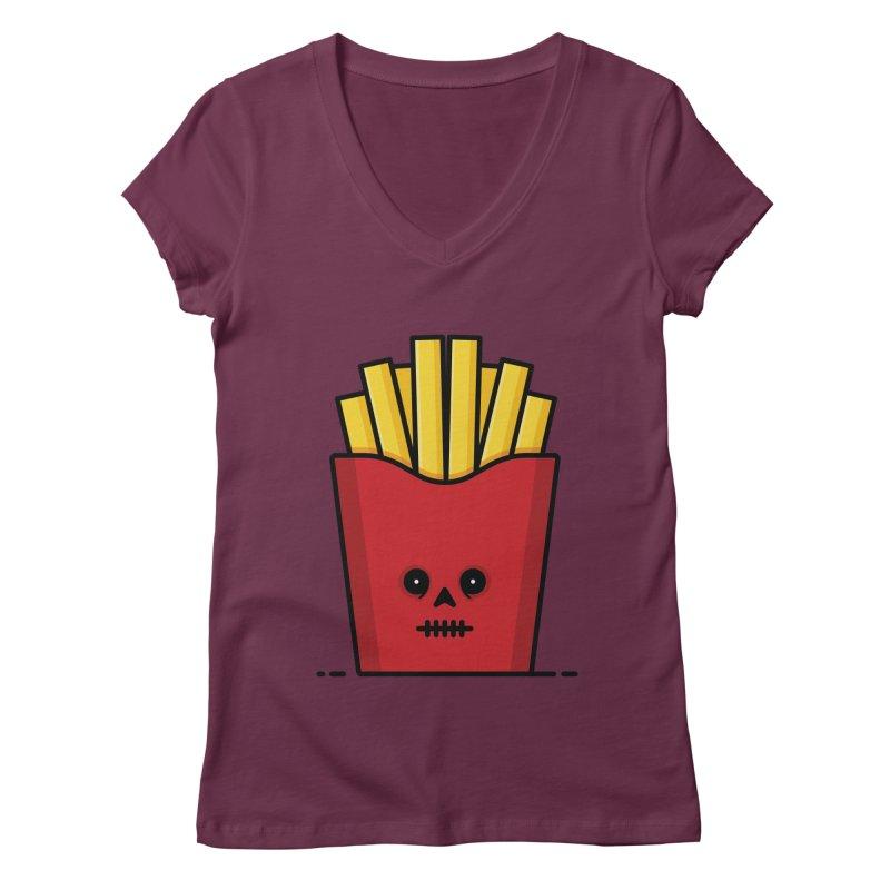 Fries Women's Regular V-Neck by Tony Bamber's Shop
