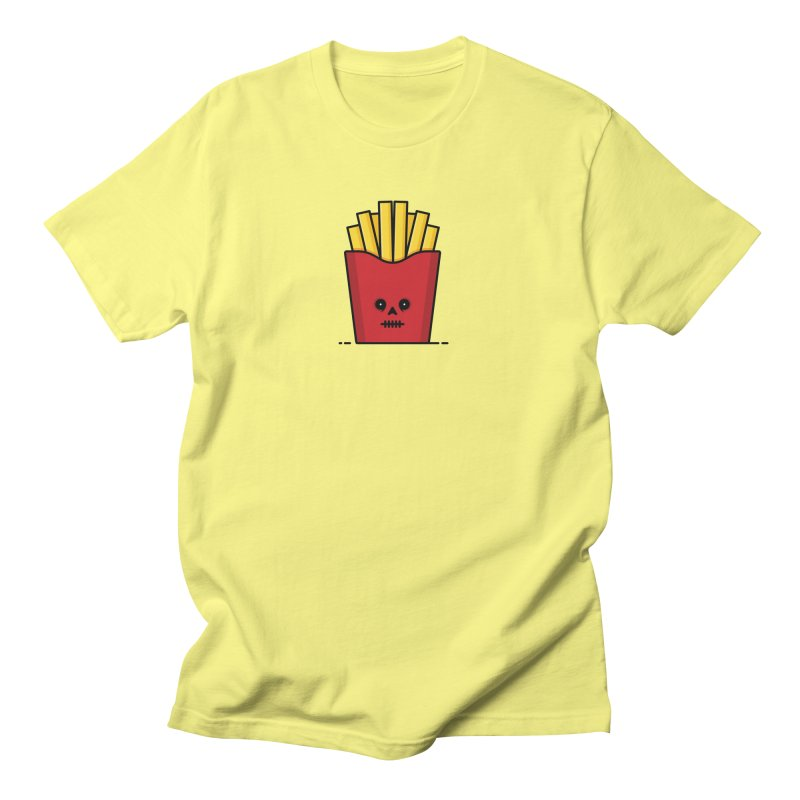 Fries Women's Regular Unisex T-Shirt by Tony Bamber's Shop