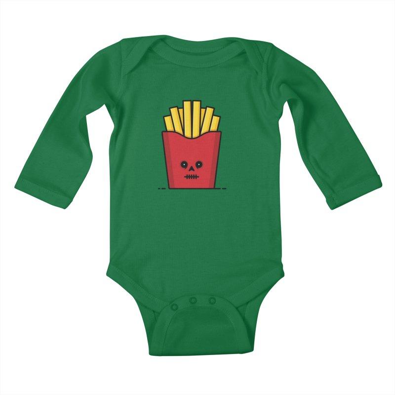 Fries Kids Baby Longsleeve Bodysuit by Tony Bamber's Shop