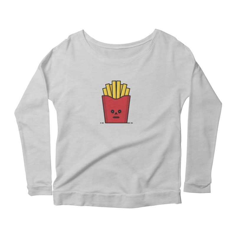 Fries Women's Scoop Neck Longsleeve T-Shirt by Tony Bamber's Shop