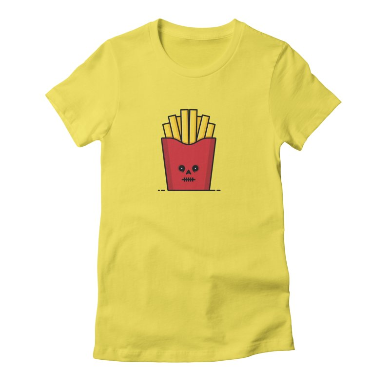 Fries Women's Fitted T-Shirt by Tony Bamber's Shop