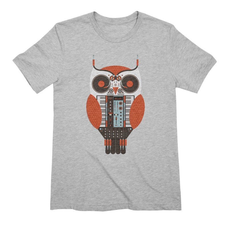 DJ Owl Men's Extra Soft T-Shirt by Tony Bamber's Shop