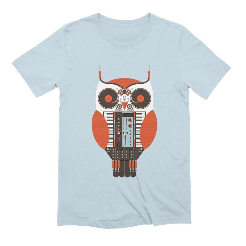 DJ Owl Men's Extra Soft T-Shirt by Tony Bamber's Shop