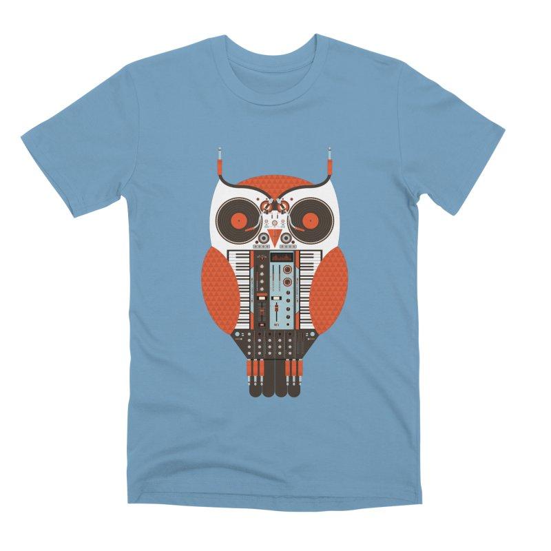 DJ Owl Men's Premium T-Shirt by Tony Bamber's Shop