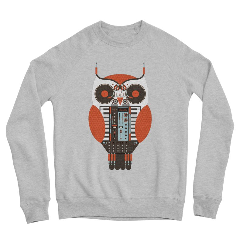 DJ Owl Men's Sponge Fleece Sweatshirt by Tony Bamber's Shop