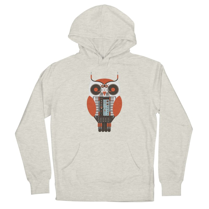 DJ Owl Women's French Terry Pullover Hoody by Tony Bamber's Shop