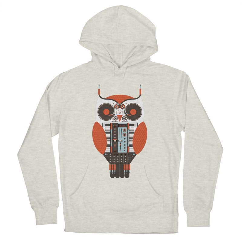 DJ Owl Men's French Terry Pullover Hoody by Tony Bamber's Shop