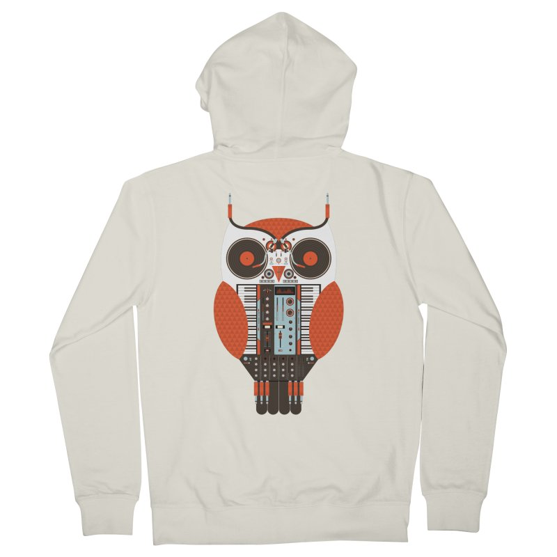 DJ Owl Men's French Terry Zip-Up Hoody by Tony Bamber's Shop