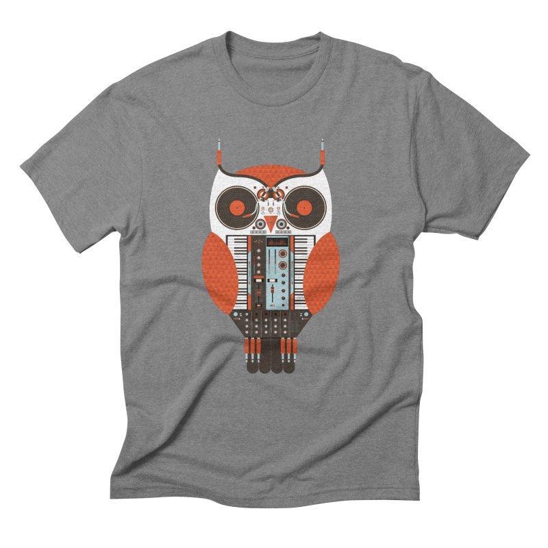 DJ Owl Men's Triblend T-Shirt by Tony Bamber's Shop