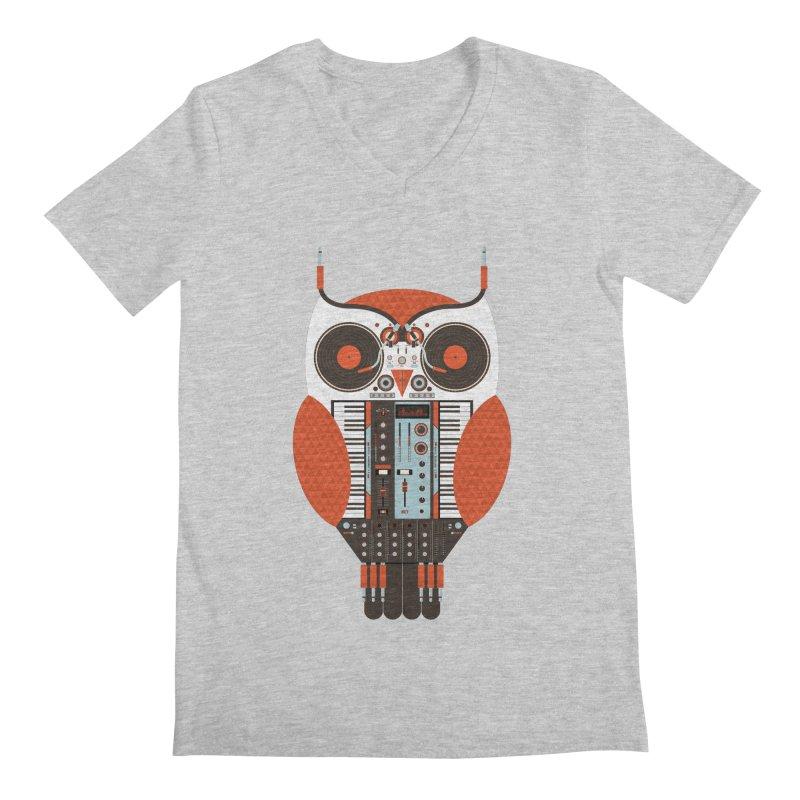 DJ Owl Men's V-Neck by Tony Bamber's Shop