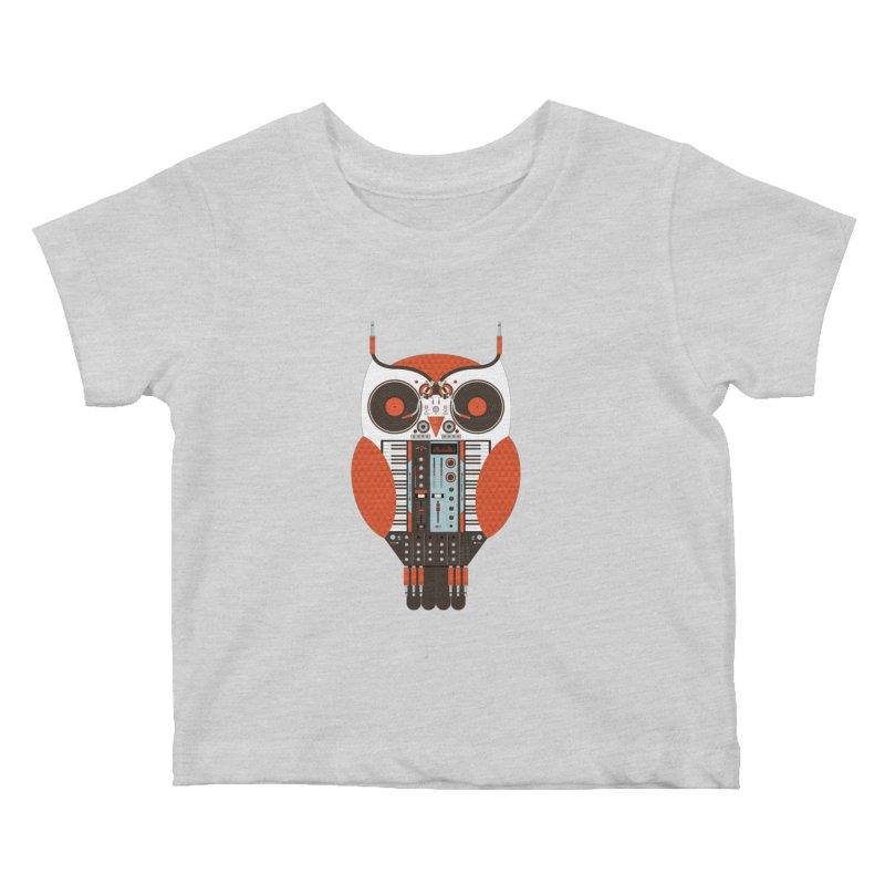 DJ Owl Kids Baby T-Shirt by Tony Bamber's Shop