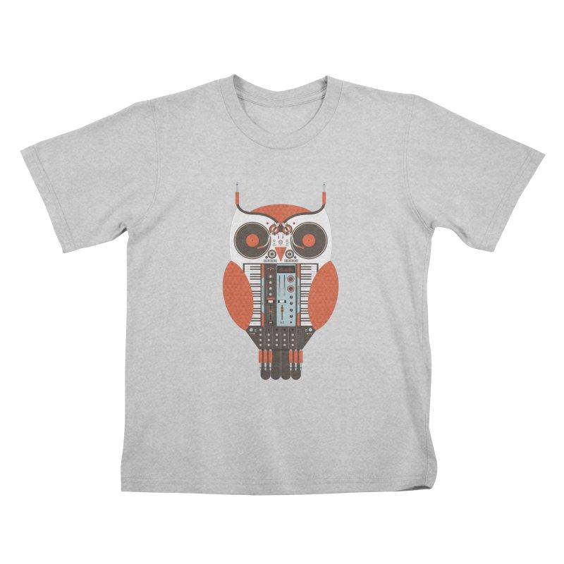 DJ Owl Kids T-Shirt by Tony Bamber's Shop