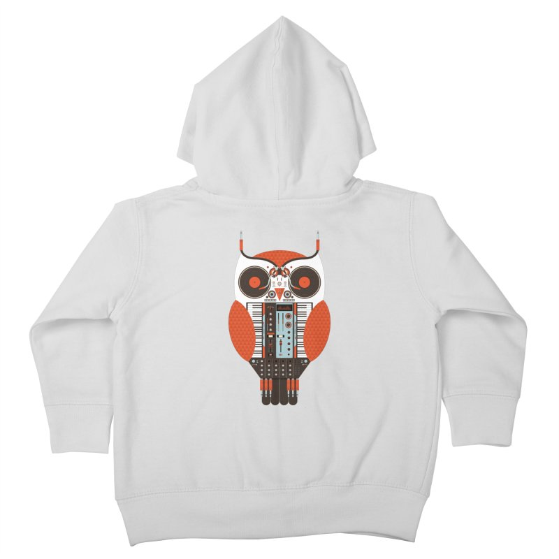 DJ Owl Kids Toddler Zip-Up Hoody by Tony Bamber's Shop