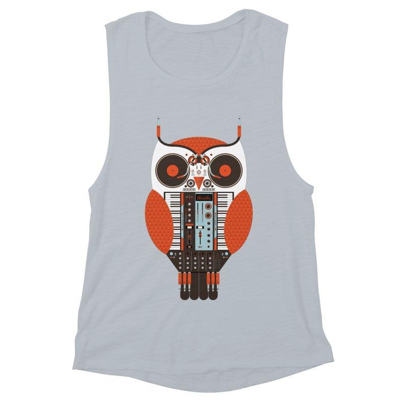 DJ Owl Women's Muscle Tank by Tony Bamber's Shop