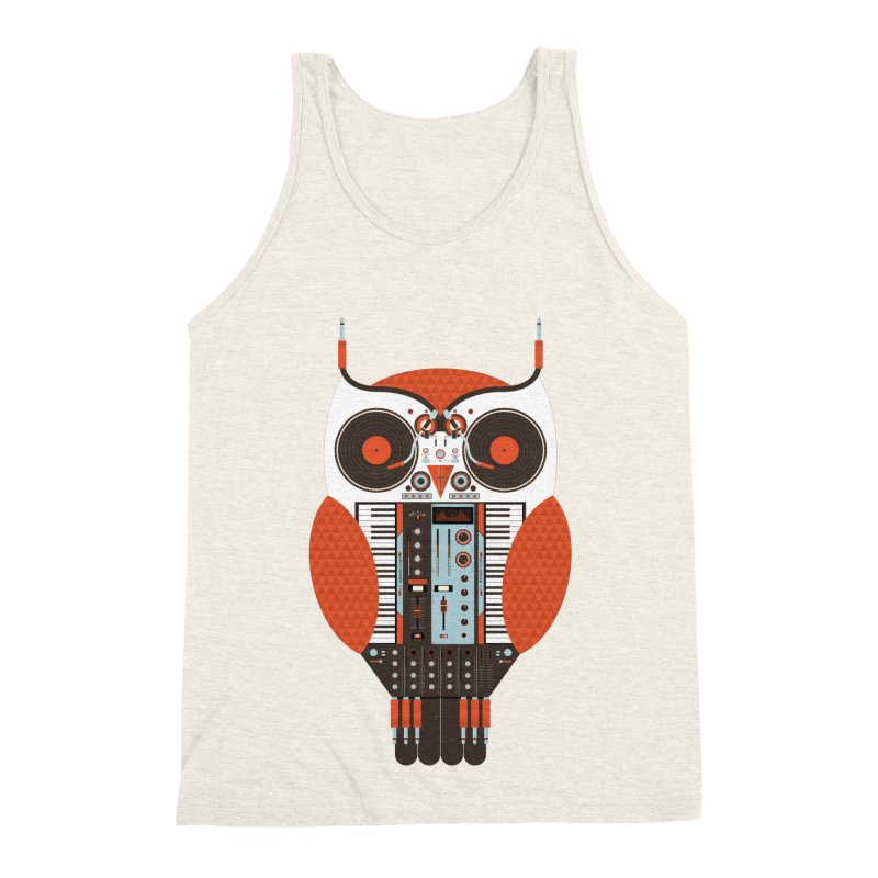 DJ Owl Men's Triblend Tank by Tony Bamber's Shop