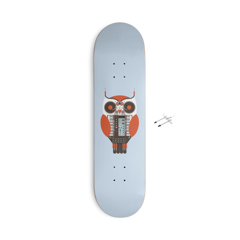 DJ Owl Accessories With Hanging Hardware Skateboard by Tony Bamber's Shop