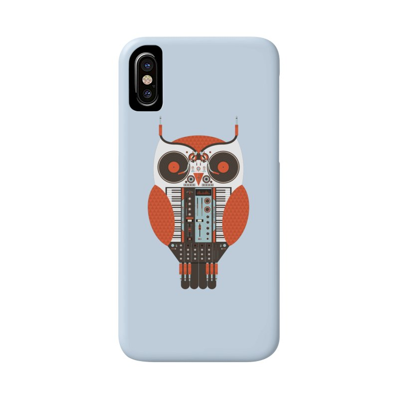 DJ Owl Accessories Phone Case by Tony Bamber's Shop