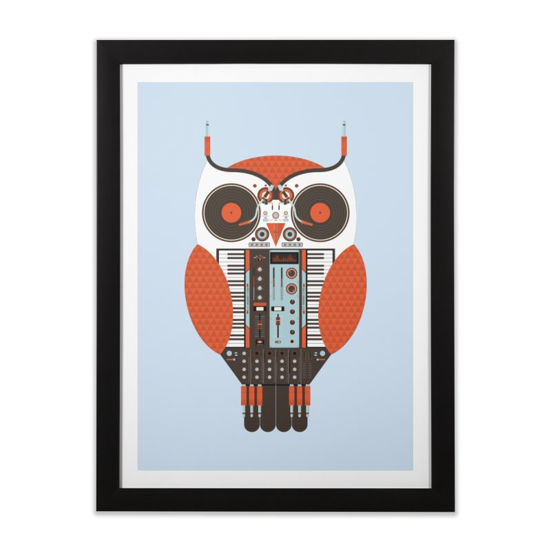 DJ Owl Home Framed Fine Art Print by Tony Bamber's Shop