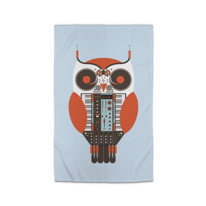 DJ Owl Home Rug by Tony Bamber's Shop