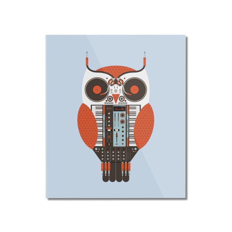 DJ Owl Home Mounted Acrylic Print by Tony Bamber's Shop