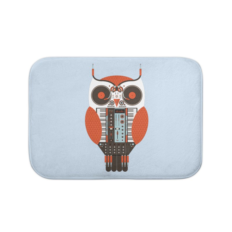 DJ Owl Home Bath Mat by Tony Bamber's Shop