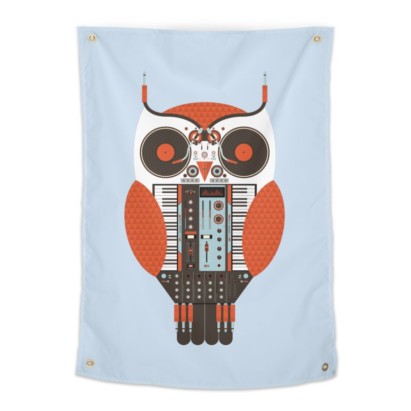 DJ Owl Home Tapestry by Tony Bamber's Shop
