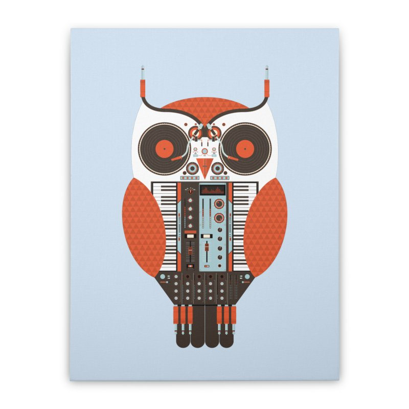 DJ Owl Home Stretched Canvas by Tony Bamber's Shop