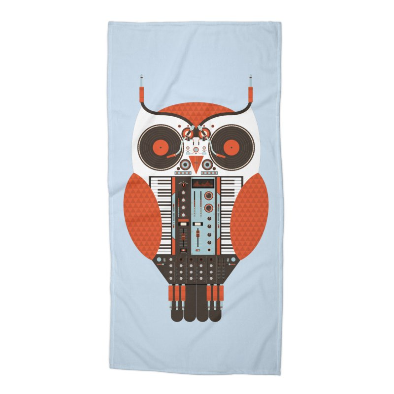 DJ Owl Accessories Beach Towel by Tony Bamber's Shop