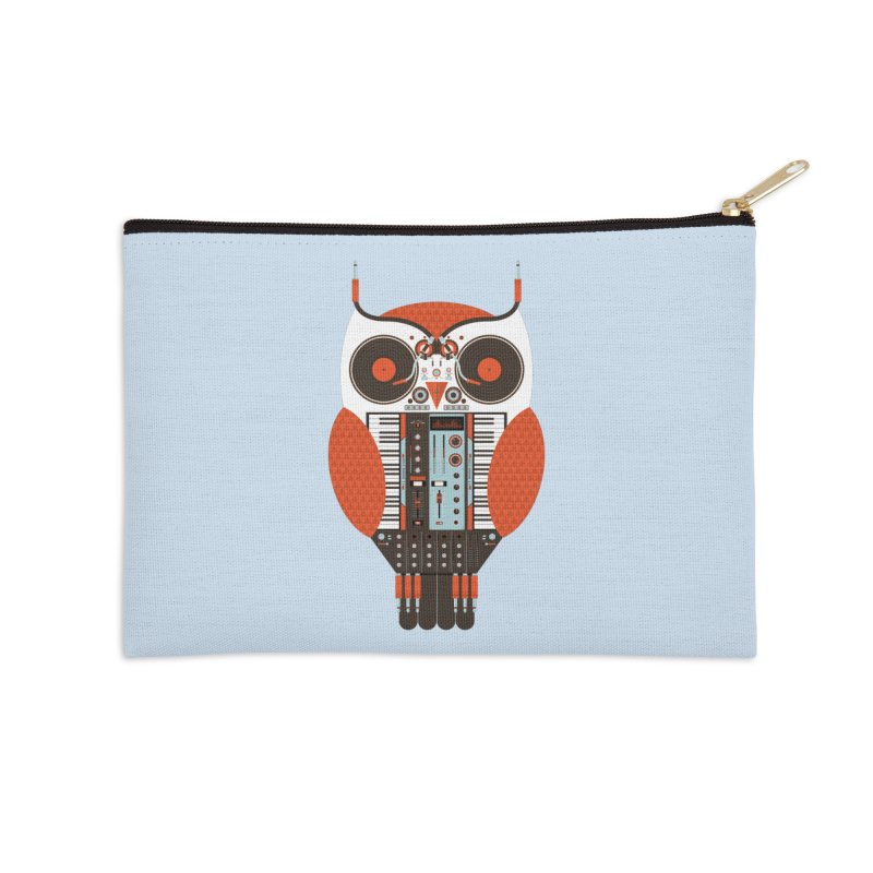 DJ Owl Accessories Zip Pouch by Tony Bamber's Shop