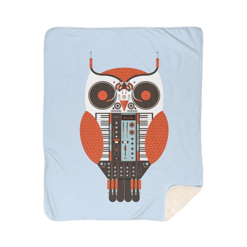 DJ Owl Home Sherpa Blanket Blanket by Tony Bamber's Shop