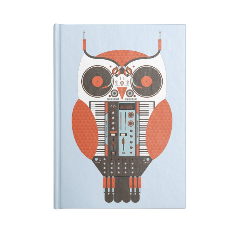 DJ Owl Accessories Blank Journal Notebook by Tony Bamber's Shop