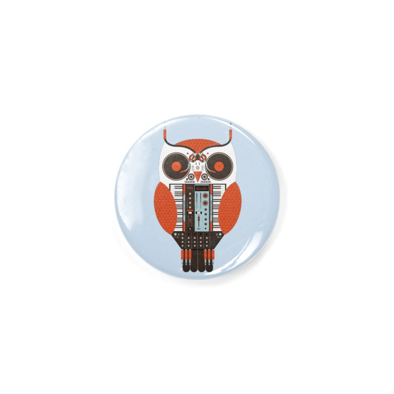 DJ Owl Accessories Button by Tony Bamber's Shop
