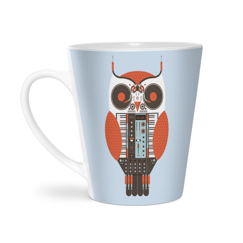 DJ Owl Accessories Latte Mug by Tony Bamber's Shop
