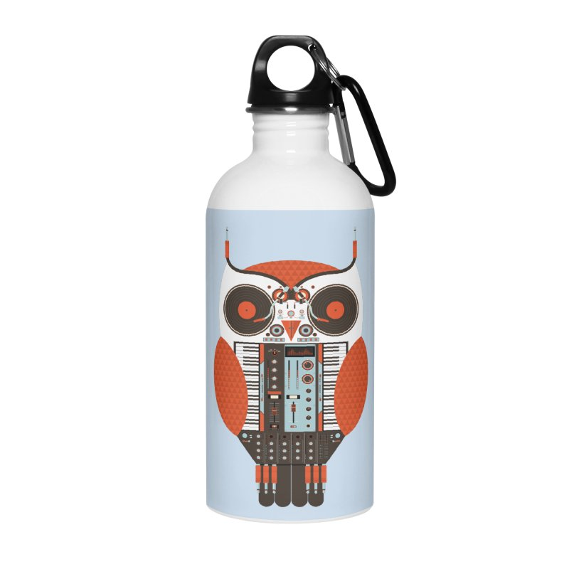 DJ Owl Accessories Water Bottle by Tony Bamber's Shop