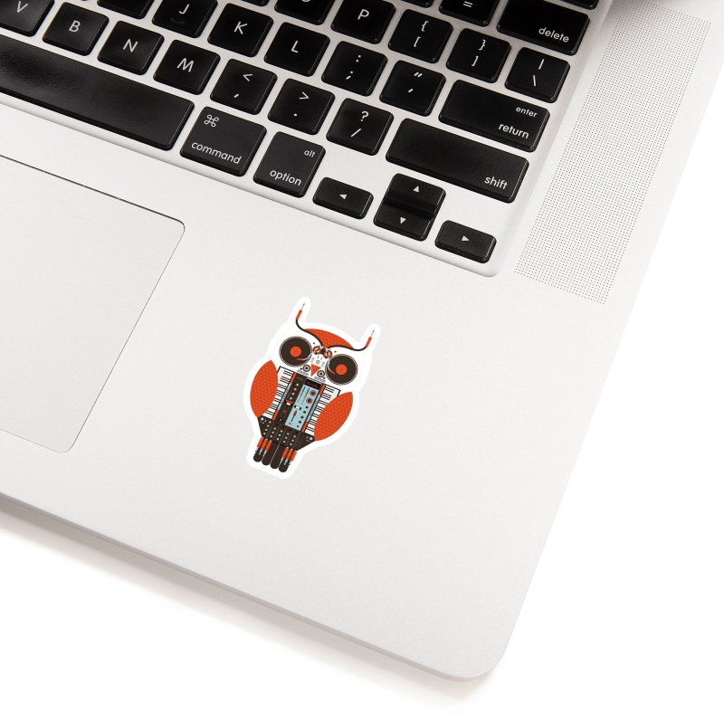 DJ Owl Accessories Sticker by Tony Bamber's Shop