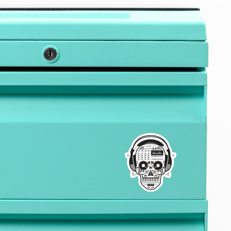 DJ Skull Accessories Magnet by Tony Bamber's Shop