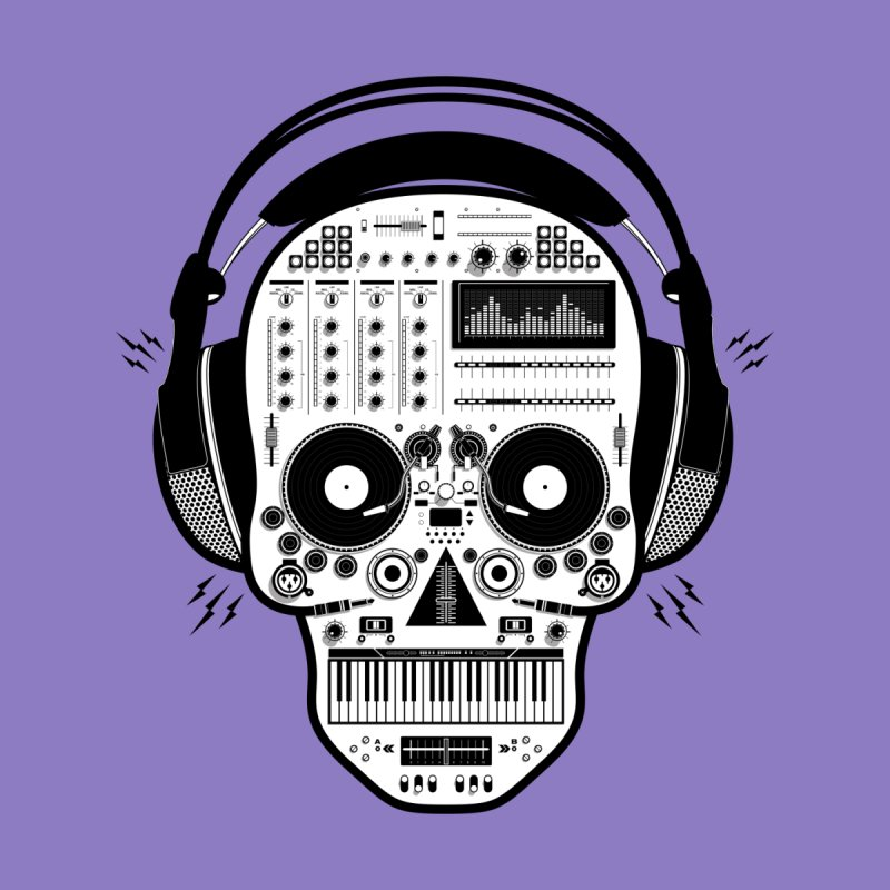 DJ Skull Men's T-Shirt by Tony Bamber's Shop