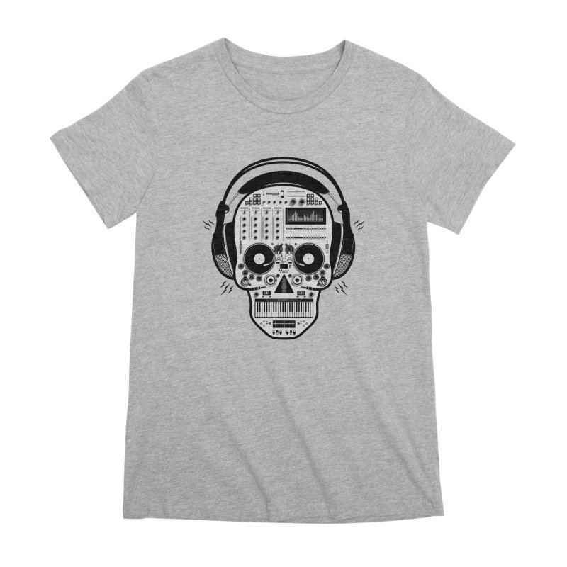 DJ Skull Women's Premium T-Shirt by Tony Bamber's Shop