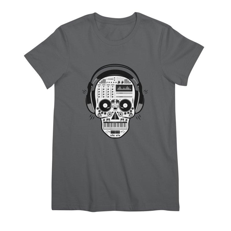 DJ Skull Women's Premium T-Shirt by Tony Bamber's Shop