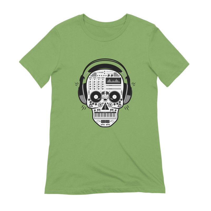 DJ Skull Women's Extra Soft T-Shirt by Tony Bamber's Shop