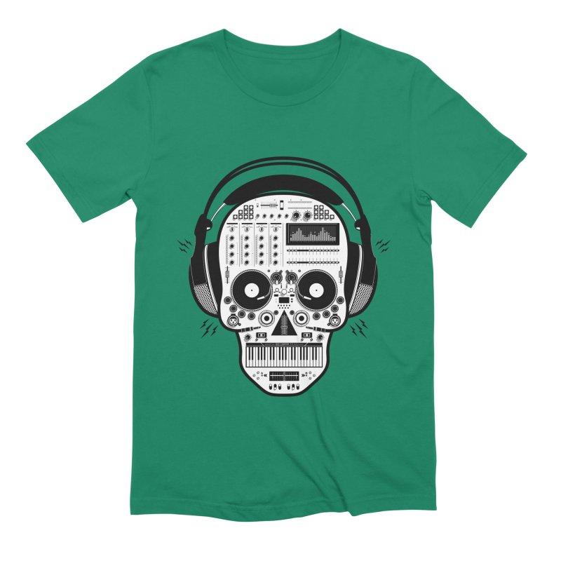 DJ Skull Men's Extra Soft T-Shirt by Tony Bamber's Shop