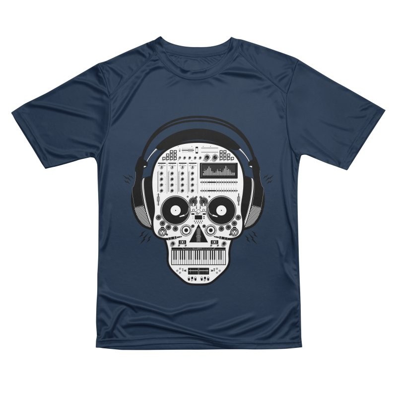 DJ Skull Men's Performance T-Shirt by Tony Bamber's Shop